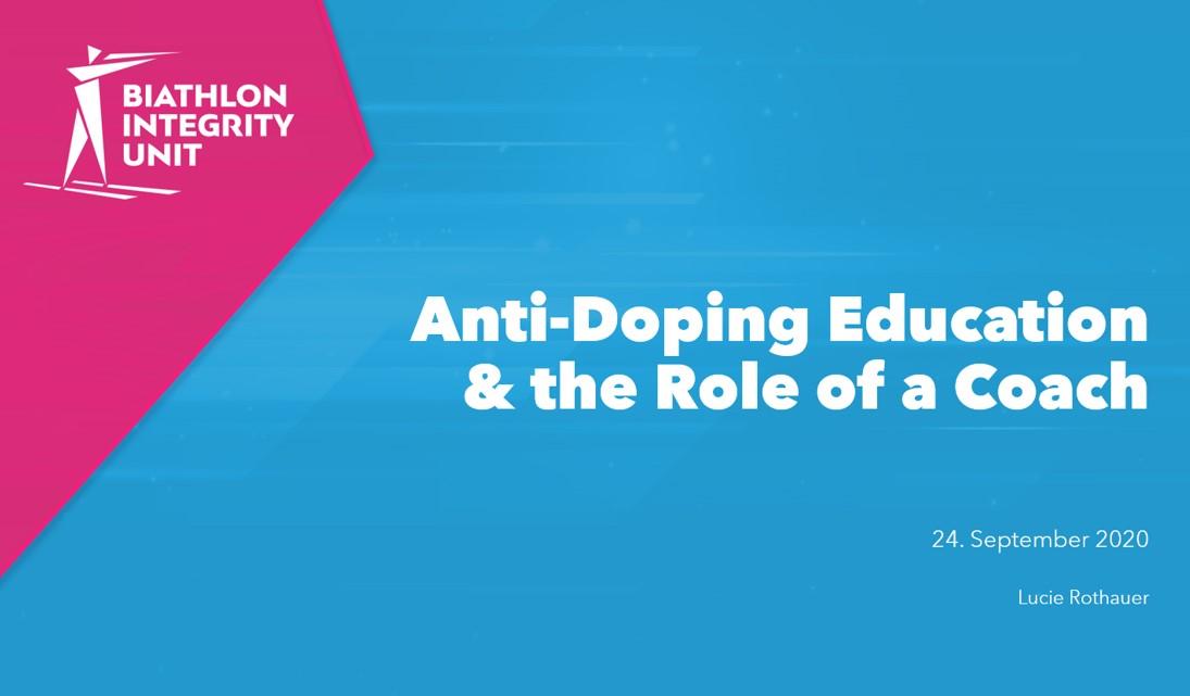 BIU drives home Anti-Doping Education message at IBU Virtual Coach Webinar Week